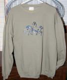 Horse Sweatshirt-L/XL-$7