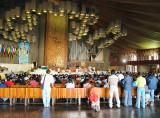 Inside, 10,000 seatings