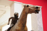 Bronze Statue of a Horse and Young Jockey