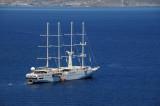 Windstar cruise ship in Mykonos Harbor