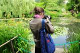 Sam shooting waterlilies