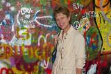 Jill in Front of the John Lennon wall