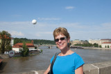 Jill in Front of the Vlatava River