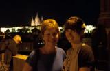 Jill and Sam on the Charles Bridge at Night