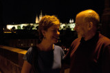 Jill and Me on the Charles Bridge at Night