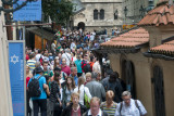 Crowd by the Old Synagogues in the Jewish Ghetto