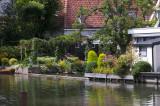 Idyllic Garden on a Canal in Edam