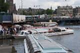 Tour Boat Traffic in Amsterdam's Inner Harbor