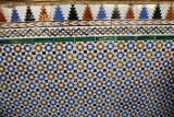 Detail of tile work in the Alcazar