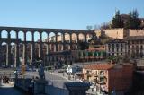 The aqueduct - it runs right through this plaza
