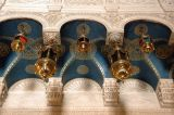 Looking up inside the Church of the Holy Sepulchre