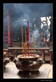 7104 Saigon, burning incense in temple