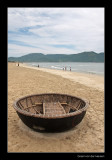 8726 Vietnam, little boat on the beach of Nha Trang