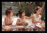 7802 Vietnam Mai Chau children selling bracelets