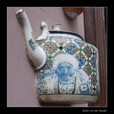 1054 Lithuania, teapot in wall in Vilnius