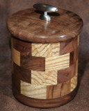 Walnut & Ash Covered Pot