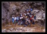 La foto de grup abans de pujar a la cova de les bruixes · any 1.984