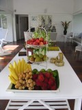 Complimentary fruits everywhere