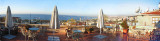 4 pics stitched. Not aligned well, but you can get the idea. From FEHMI BEY Hotel rooftop.