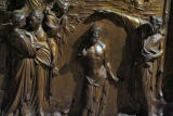 Ghiberti's Baptism of Jesus closer up (darker but better detail)