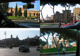 Taxi ride into Rome - first scenes we saw.