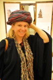 Turban to touch and try on