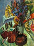Still Life with Jug and African Bowl- Ernst Ludwig Kirchner 1912