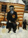 Violinist on a Bench- Marc Chagall 1920 (based on a 1914 original)