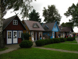 Rustic boutiques in Nida