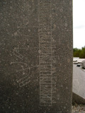 Granite sundial detail