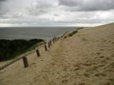 Footprints at the edge of Parnidis Dune