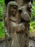 Twelve Brothers - Ravens in Flight carving