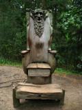 A rather disturbing throne