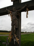 Large wooden crucifix and smaller additions