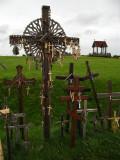 Crucifix-adorned cross
