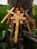 Group of crucifixes at the base of a cross
