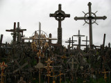 Pair of crosses rising out of the clutter