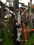 Decorated image of Jesus on a crucifix