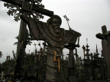 A folklorish image of Christ in cross form