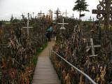 Hilltop path amongst the crosses