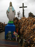 Large Mary shrine on top of the hill