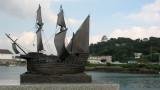 Portuguese ship model and Hirado Castle