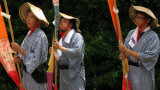 Trio of banner bearers