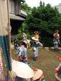 Dancing in a temple garden