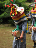 Young drummer in the procession