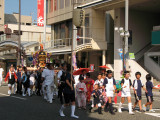 The parade participants arrive