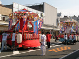 Two main floats of the small parade