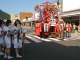 Second float with watching dancers