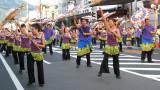 Dance school group shaking their umbrellas