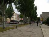 Cracked pavement along ul 25 Oktober